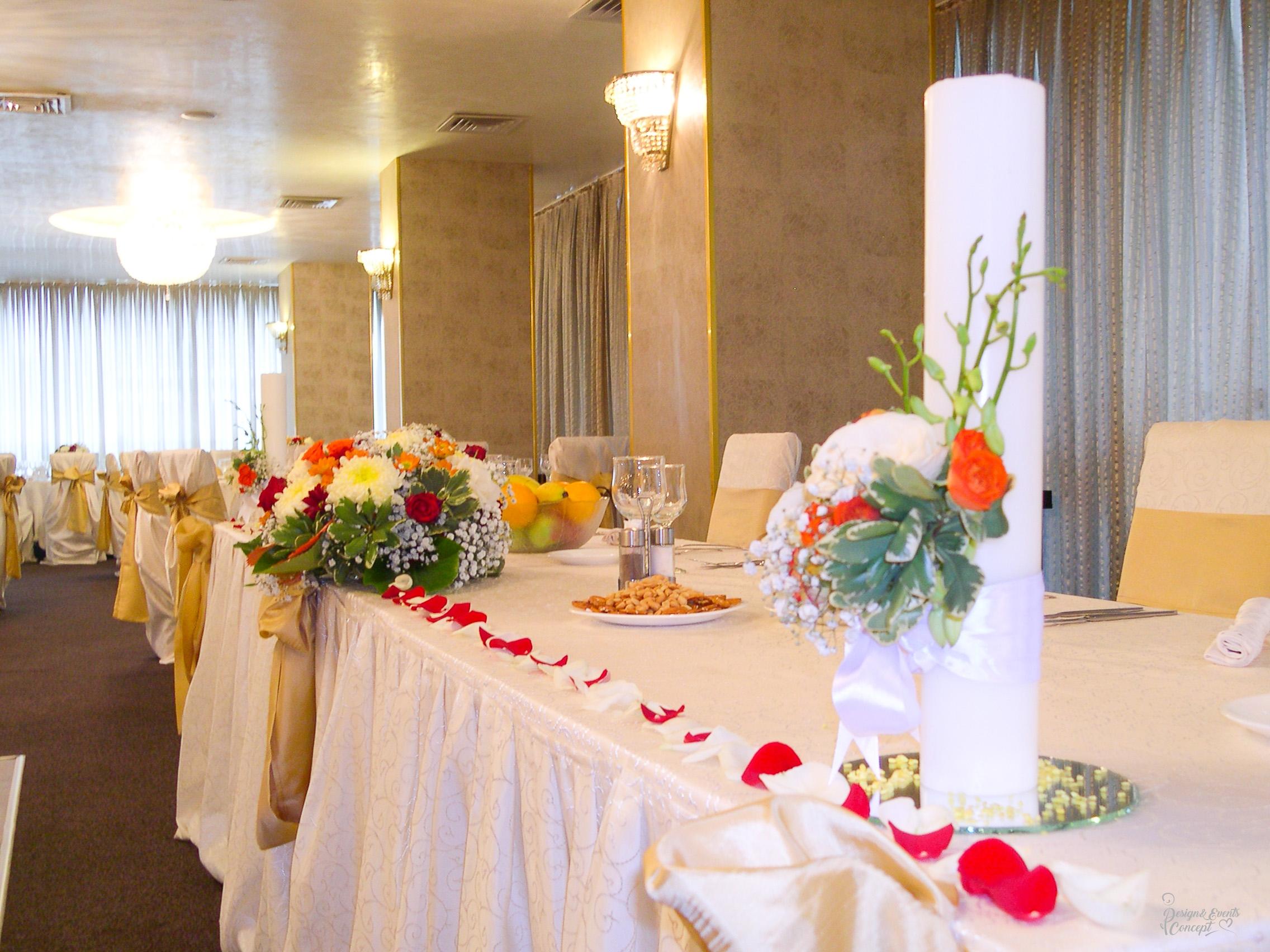 Nunta Crem & Auriu- Restaurant Bolta Rece